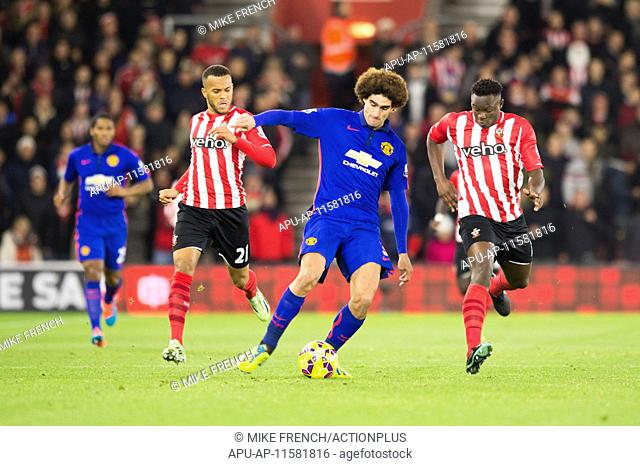 2014 Premier League Southampton v Man United Dec 8th. 08.12.2014. Southampton, England. Premier League. Southampton versus Manchester United