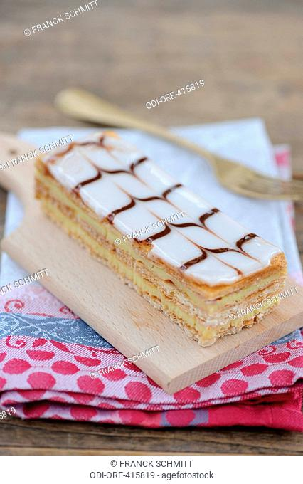 Millefeuille, puff pastry with custard cream