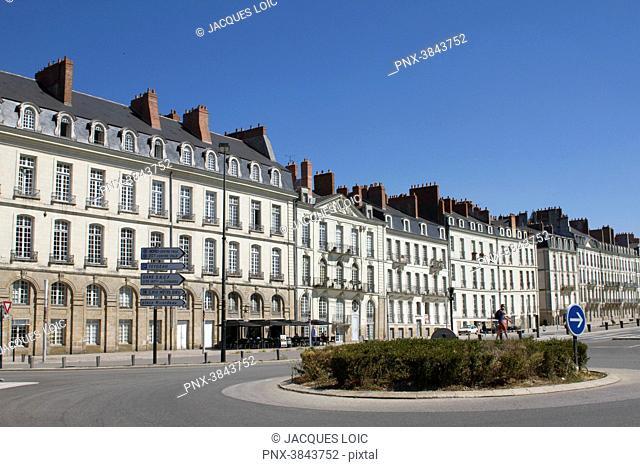 France, Nantes, Ile Feydeau, 18th Century mansions