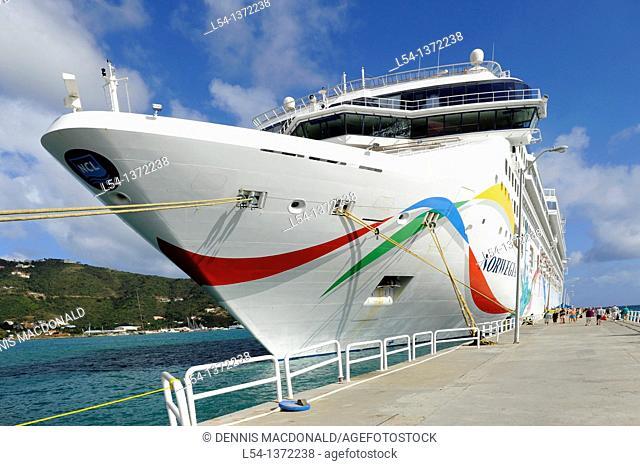 Norwegian Cruise Line Dawn Ship Road Town Tortola BVI Caribbean Wickhams Cay