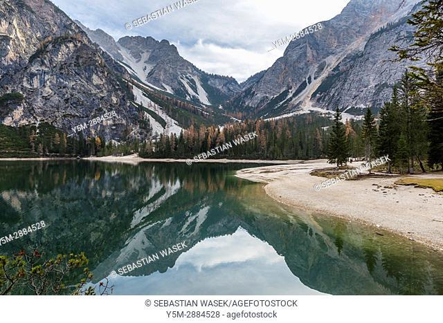 Lago di Braies, Prags Dolomites, Trentino-Alto Adige/Südtirol, South Tyrol, Italy