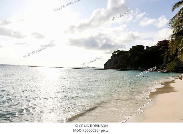 View of beach on Koh Pha Ngan, Thailand