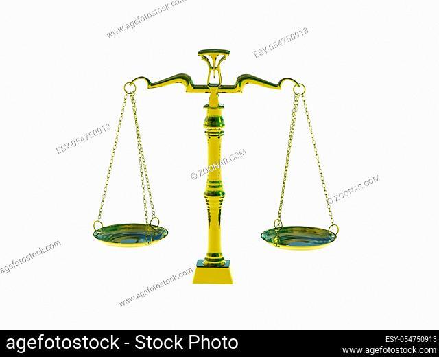 goldene Waage der Gerechtigkeit