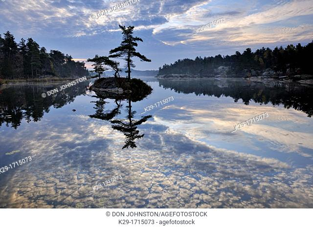 A small island in McGregor Bay, Whitefish First Nation, Ontario, Canada
