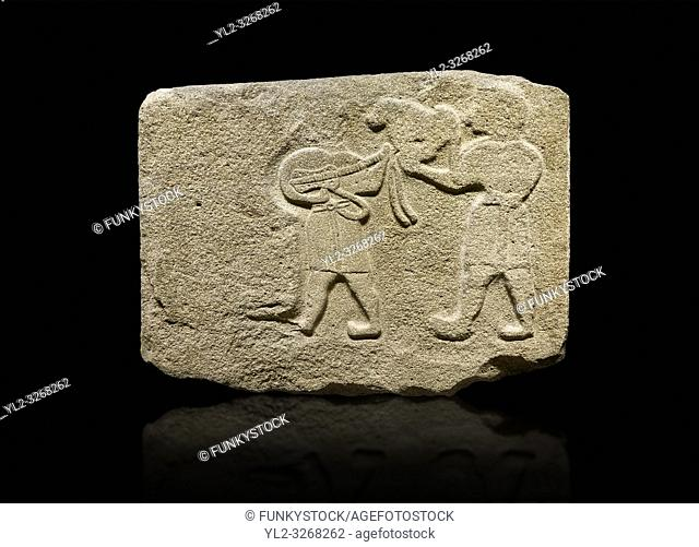 Alaca Hoyuk Sphinx Gate Hittite monumental relief sculpted orthostat stone panel. Andesite, Alaca, Corum, 1399 - 1301 BC