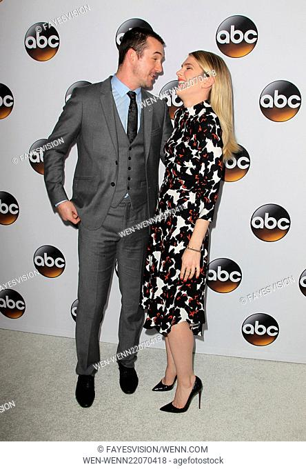 Disney & ABC Television Group's TCA Winter Press Tour - Arrivals Featuring: Lily Rabe, Barry Sloane Where: Pasadena, California