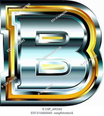 Fancy font Letter B