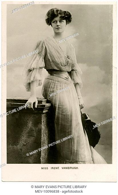 Irene Vanbrugh (1872 - 1949), English stage actress, occasionally in films