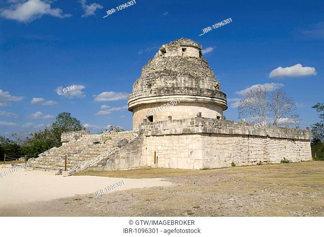 Chichen Itza, El Caracol, The Snail also called The Observatory, Yucatan, Mexico, UNESCO World Heritage Site