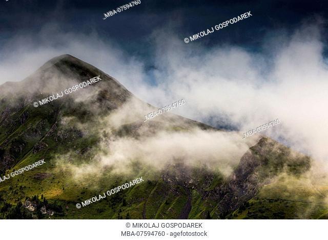 Europe, Italy, Alps, Dolomites, Mountains, View from Passo Giau. Summer Dolomites
