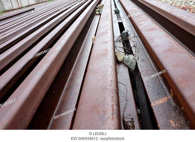 Track of railroad