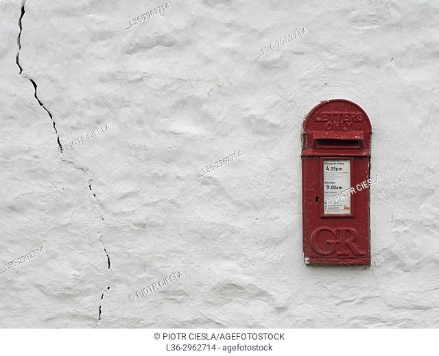 Great Britain. Old english postbox