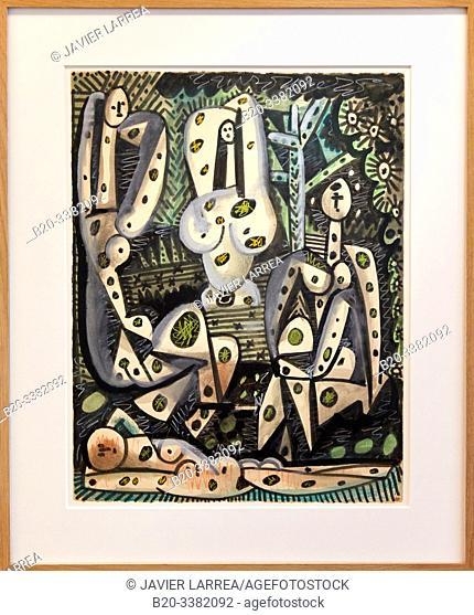 """""""Quatre femmes dans un paysage"""", 1955, Pablo Picasso, Picasso Museum, Paris, France, Europe"""