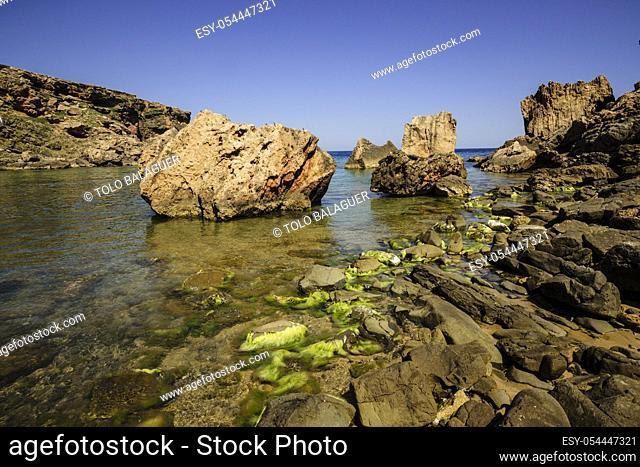 Playa de Cala En Calderer, Ferreries, Menorca, Islas Baleares, españa, europa