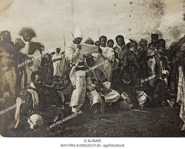 Album of the Marquis Giuseppe Colli Felizzano - Ethiopia / Argentina: Ethiopians in traditional costumes, shot 1909-1913 by Colli di Felizzano Giuseppe