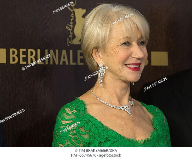 Actress Helen Mirren poses during the photocall for 'Woman in Gold' at the 65th annual Berlin Film Festival, in Berlin, Germany, 09 February 2015