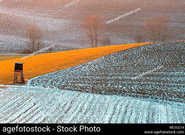 Rural landscape of Turiec region in northern Slovakia