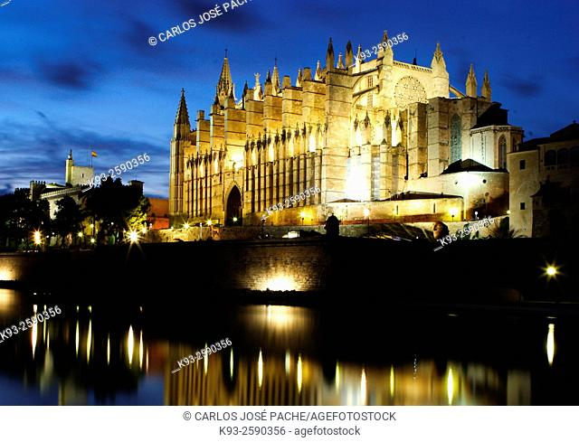 Gothic cathedral, Palma, Majorca, Balearic Islands, Spain