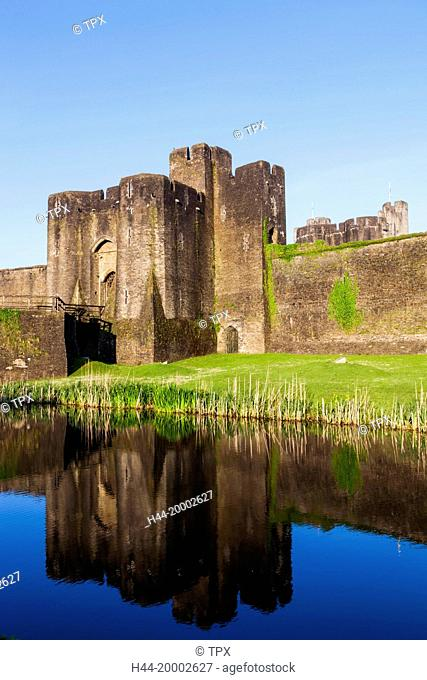 Wales, Glamorgon, Caerphilly, Caerphilly Castle