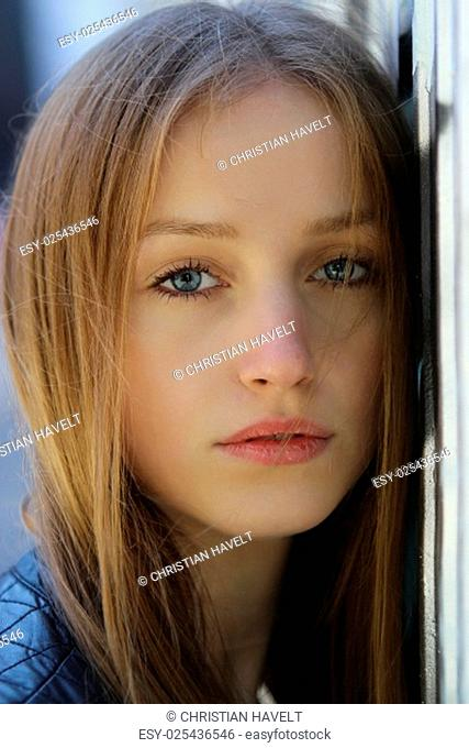 face of a young woman