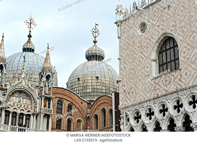 Doge's Palace and St. Mark's Cathedral, San Marco, Venice, Veneto, Italy