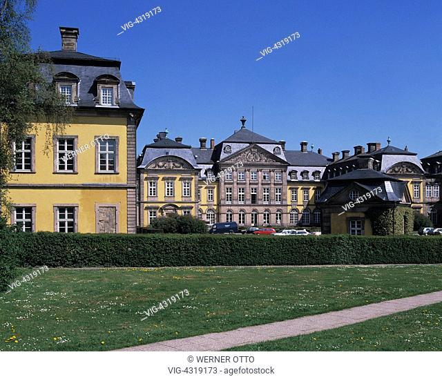 D-Bad Arolsen, Hessisches Bergland, Hessen, Schloss, Barock, D-Bad Arolsen, Hessian mountainous country, Hesse, castle, baroque - Bad Arolsen, Hessen, Germany