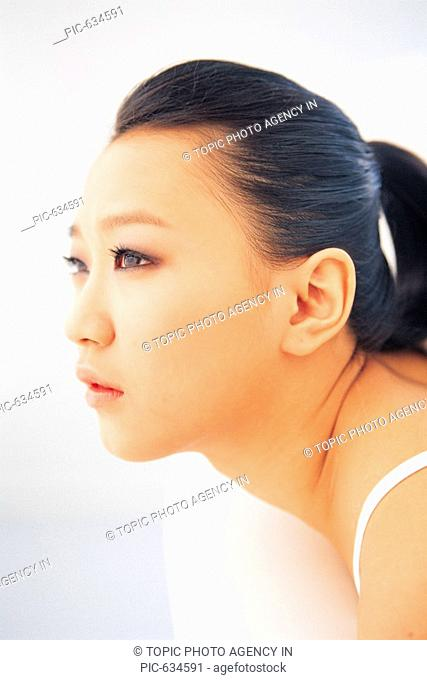 Close-up of Korean Young Woman\'s Face