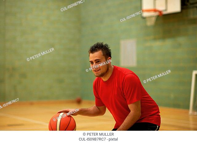 Student with basketball