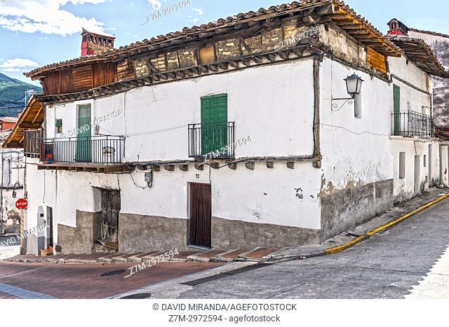 Popular architecture. Mombeltrán. Barranco de las cinco villas. Valle del Tiétar. Provincia de Ávila, Castile-Leon, Spain