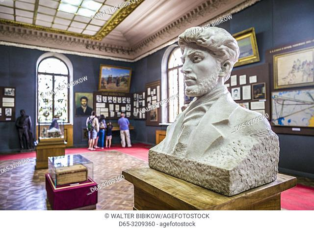 Georgia, Gori, Stalin Museum dedicated to former Soviet dictator Joseph Stalin, bust of young Stalin, NR