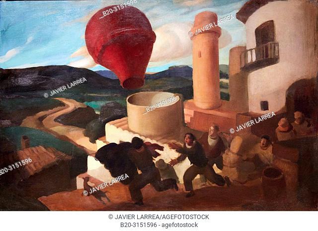 """""""Optimism in El Vallés"""", c. 1932, Ramon Calsina, National Museum of Catalan Art, Museu Nacional d Art de Catalunya, MNAC, Barcelona, Spain, Europe"