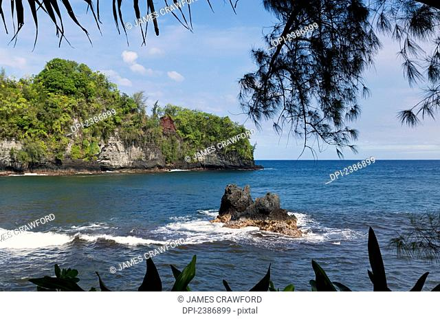 Blowhole Cove in Onomea Bay; Island of Hawaii, Hawaii, United States of America