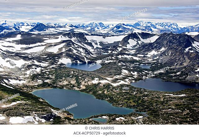 Aerial photography overthe Coast Mountains of British Columbia Canada