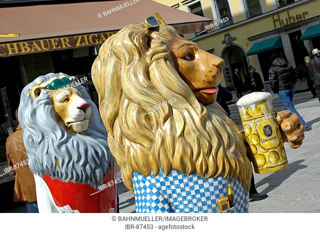 Munich Upper Bavaria Germany lion bavarian Lion