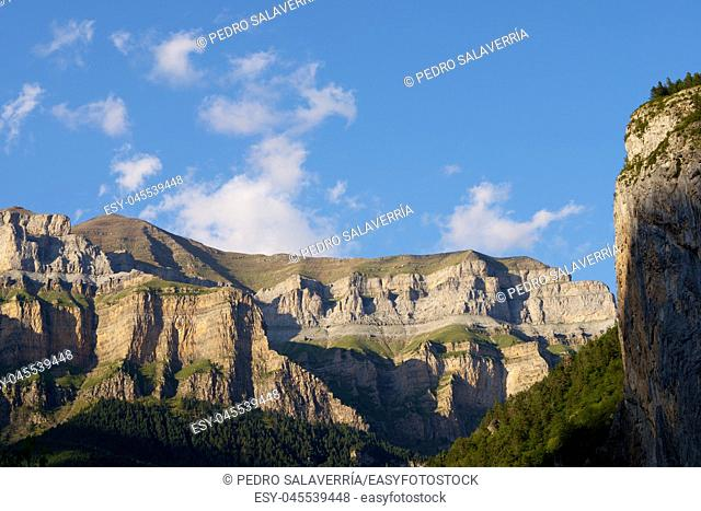 Mountains in the Pyrenees, Ordesa Valley National Park, Aragon, Huesca, Spain