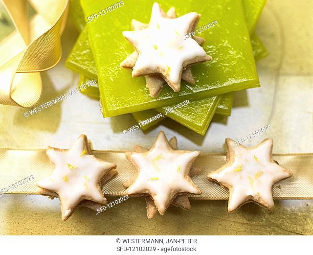 Lemon star with quince jelly
