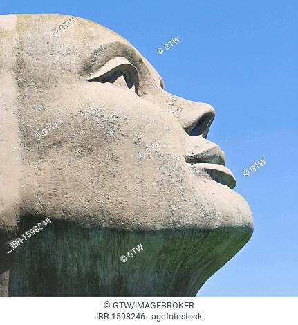 Blik Van Licht, statue by Charles Delporte, Damme, West Flanders, Belgium, Europe