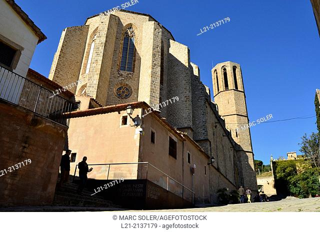 Monastery of Pedralbes. Gothic style, 14th century. Barcelona, Catalonia, Spain