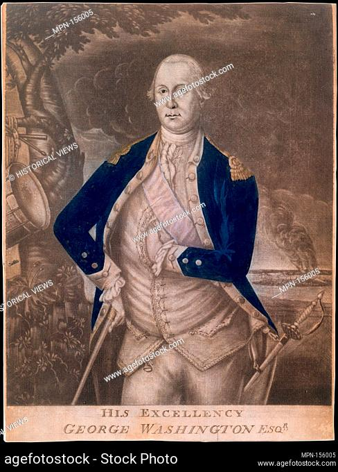 His Excellency George Washington Esq-r. Engraver: Possibly engraved by Joseph Hiller, Sr. (American, Boston 1747/48-1814 Lancaster