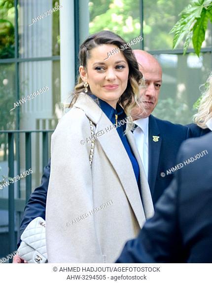 """PARIS, FRANCE - April 29 : Actress Marion Cotillard attends the """"""""Vivement Dimanche"""""""" TV show on April 29, 2019 in Paris, France"""