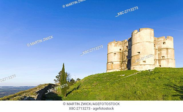 Castle Evoramonte in the Alentejo. Europe, Southern Europe, Portugal, March