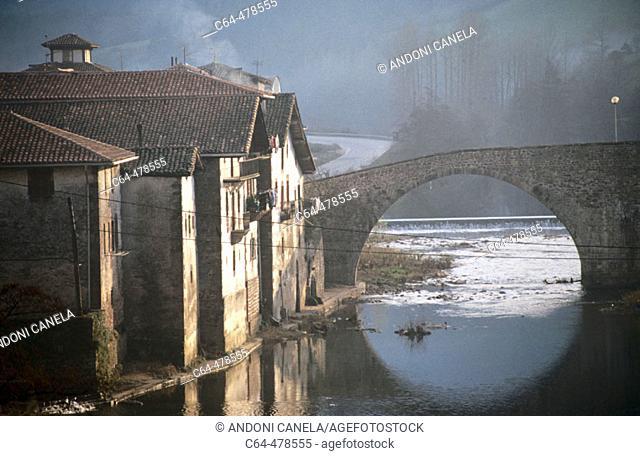 Bidasoa river. Sunbilla. Navarra. Spain