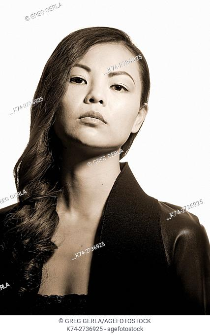 fashion image of young asian woman