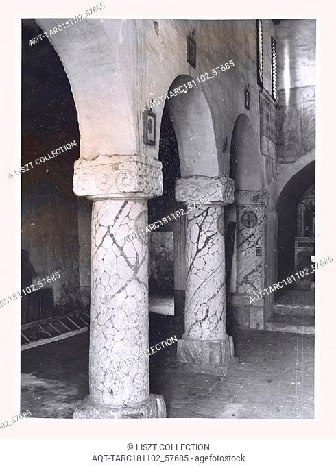 Lazio Viterbo Ronciglione S. Eusebio, this is my Italy, the italian country of visual history, Medieval Architecture, painting, architectural sculpture