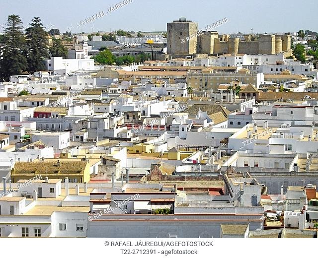 Sanlucar de Barrameda (Cádiz) Spain. Overlooking the town of Sanlucar de Barrameda