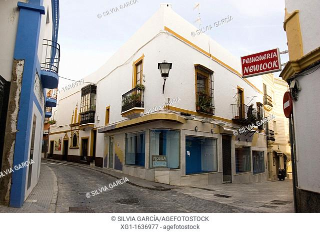 Street of Ayamonte, Huelva, Andalucia, Spain, Europe