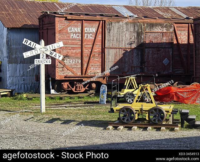 railway museum at Canadian Northern train station, Smith's Falls, Ontario, Canada
