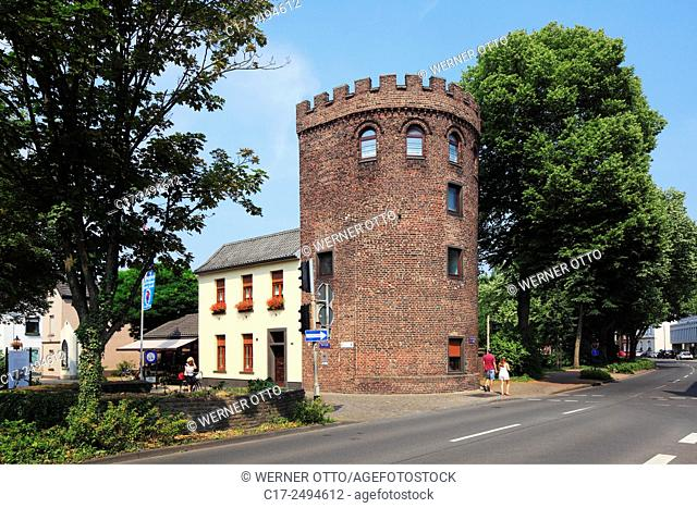 Germany, Kempen, Niers, Lower Rhine, Rhineland, North Rhine-Westphalia, NRW, medieval city fortification, Peter Tower, former Peter Town Gate