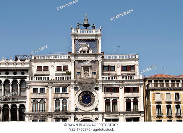 Torre dell'Orologio, St  Mark's Square, Venice, Italy