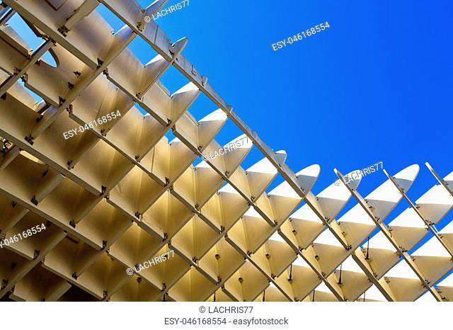 A detail of the Metropol Parasol in Seville, Andalusia, Spain